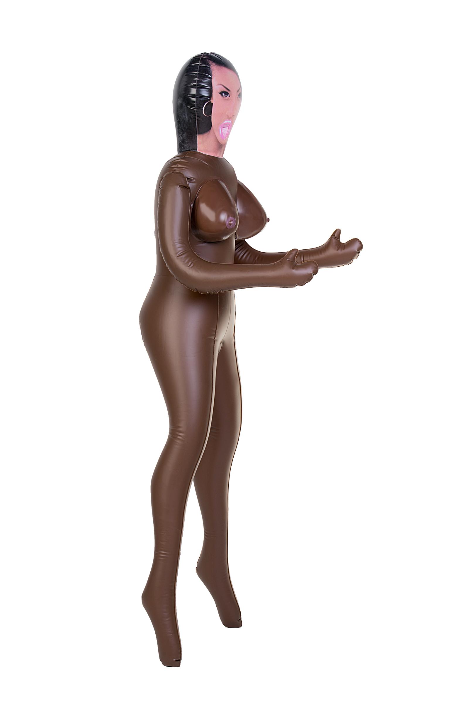 Кукла надувная, Michelle, негритянка, TOYFA Dolls-X,  с тремя отверстиями, 160 см