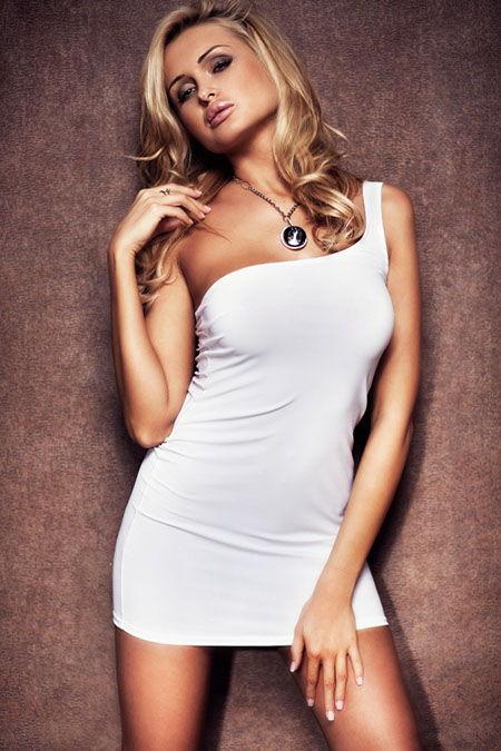 Платье белое-M/L