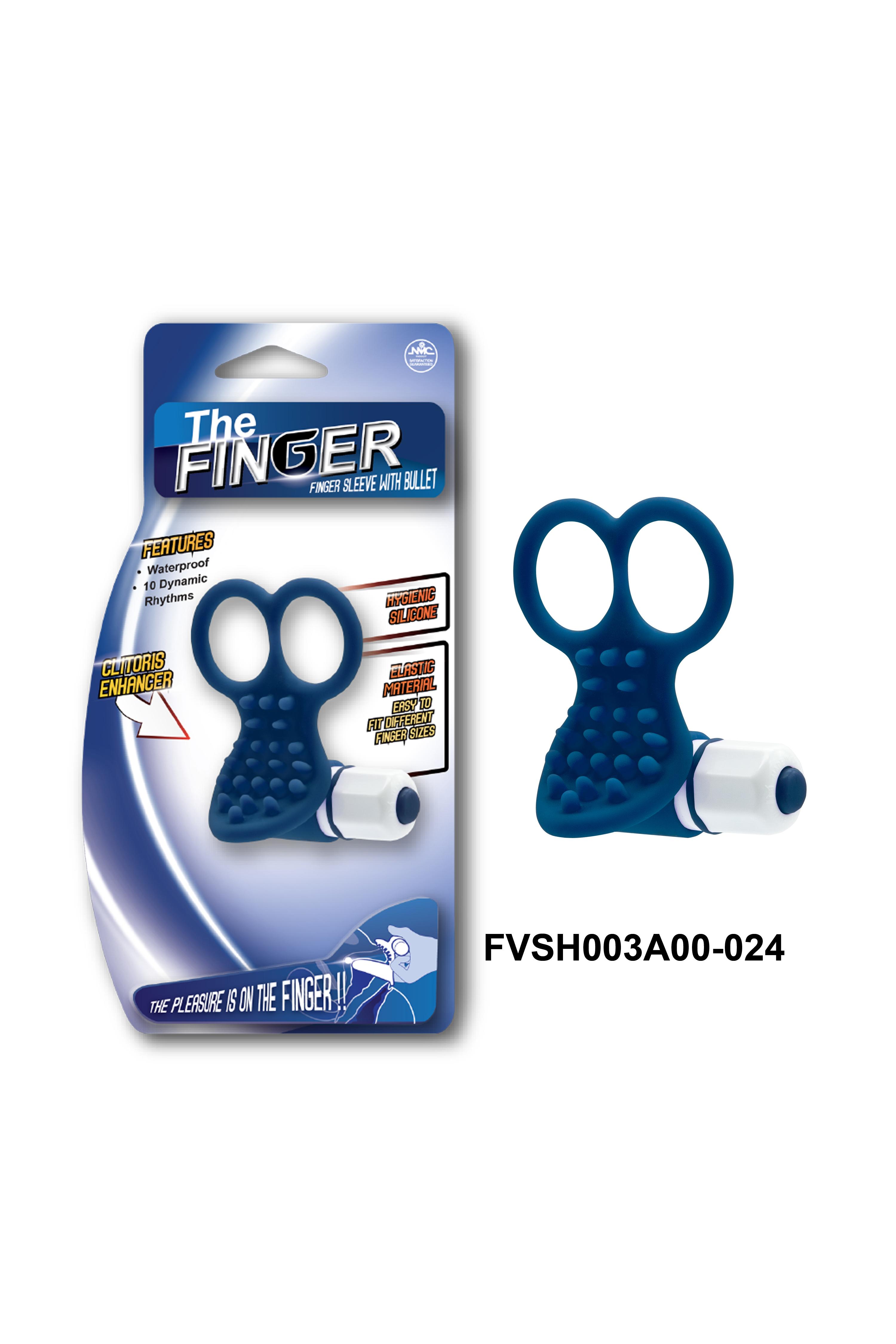 Вибронасадка на пальцы, 10 режимов вибрации, синяя