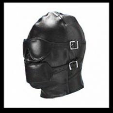 Шлем с кляпом иск.кожа