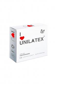 Презервативы Unilatex Natural Ultrathin  №3  ультротонкие -ШТ