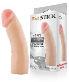 Фаллоимитатор-насадка RealStick #441, телесный, 18,5 см