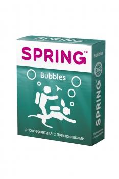 Презервативы SPRING BUBBLES - с пупырышками, №3 ШТ