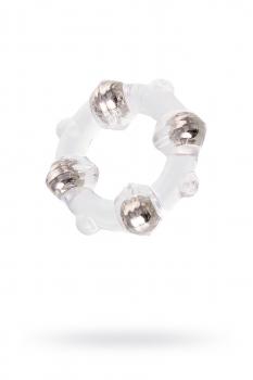 Эрекционное кольцо с бусинами, силиконовое