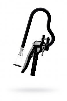 Помпа для клитора SAIZ Premium, силикон+ABS пластик, чёрный, 44 см