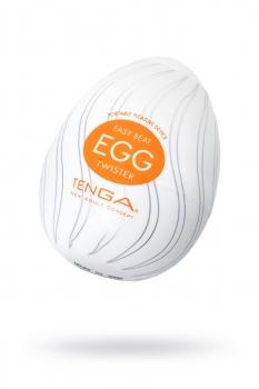 Нереалистичный мастурбатор TENGA № 4 Twister, TPE, белый, 6,1 см