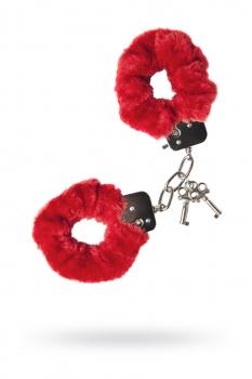 Наручники Штучки-дрючки меховые красные