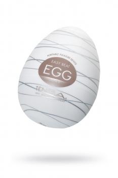 Нереалистичный мастурбатор TENGA № 6 Silky, TPE, белый, 6,1 см