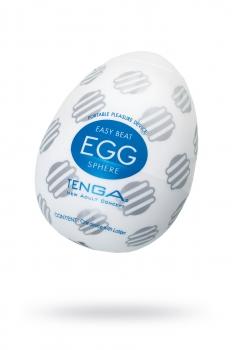 Нереалистичный мастурбатор TENGA №17 Sphere, TPE, белый, 6,1 см