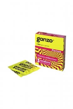 Презервативы Ganzo Extase № 3 Точечные и ребристые, анатомической формы ШТ