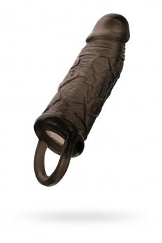 Насадка на пенис Toyfa XLover, TPE, черная, 14,5 см
