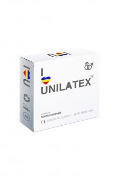 Презервативы Unilatex Multifrutis №3  ароматизированные ,цветные-ШТ