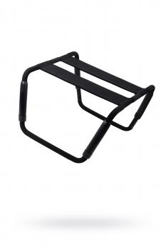 Раскладной стул для любовных игр Romfun, металл и неопрен, чёрный